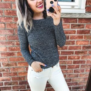 LOFT Grey Marled Sweater XS